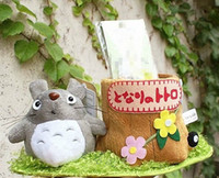 Wholesale Totoro and Stump Pattern Decorative Pen Container Holder