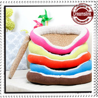 Wholesale 2014 new Pet Dog Nest Puppy Cat dog Soft Bed Fleece Warm House Kennel Plush Mat selected colors