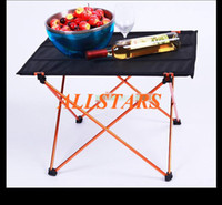 Cheap Free shipping Brand New Ultra-light Aluminium Alloy Portable Foldable Folding Table Desk for Camping Outdoor Picnic Large two-color F-0054