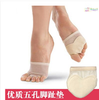 Wholesale free shiping Professional Belly Ballet Dance Toe Pad Practice Shoes foot thong Protection Dance Socks Costume gaiters Accessories J