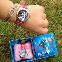 birthday presents - 2014 Frozen Anna Elsa Kids Pink Watch Wedding Favors Quartz Cartoon Jelly Candy Led Cute Lovely Girls Gifts Kids Birthday Presents