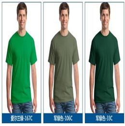 Wholesale New Arrival Gildan Men T shirt short sleeve o neck Men s T shirts solid color cotton Casual Tees