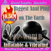 Wholesale 2014 New SexProduct Biggest Anal Plug One The World Max Dia CM Butt Plug Inflatable anal plug Big Size Inflatable Dildo