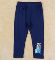 Autumn Europe Children Girls Long Pants Leggings Frozen Elsa...