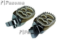 bike cnc - PAZOMA Dirt bike CNC ALUMINUM Foot Pegs Footrests For klx150 KX GUNMETAL