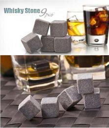 Wholesale Big discount sets Whisky stones bag in velvet bag whiskey stone rock beer stone