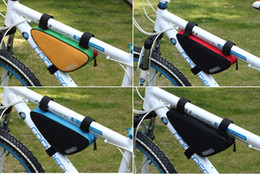 Wholesale Latest High Quality L Sport Cycling Mountain Bike bag Bicycle Bag PVC Triangle Bicycle Bike Bag Front Frame Pipe Pouch Bag