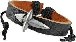 cross bracelets Free shipping for small wholesale spot leather alloy jewelry Diamond cross Black cool bracelets bracelets with hand