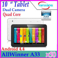 Wholesale DHL inch Android Tablet AllWinner A33 Quad core Tablet G RAM GB GB Dual Cameras Hz YX MID