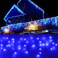 Wholesale 4pcs LED M Curtain Fairy Lights Holiday Christmas Garden Lamps Xmas Decorations Light With EU Plug Blue TK1101