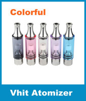 Cheap Vhit Glass Tank Vaporizer Dry Herb Atomizer Wax Vapor Cigarettes Metal Drip Tip Straight Tube Glass Replaceable Glass Atomizer DHL ATB020