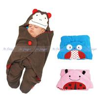 Wholesale SKP Baby Blanket Lovely Cartoon Animal Style Baby Sleeping Bag for Stroller Owl Bee Dog Ladybug Monkey Bedding Set Towel J0081