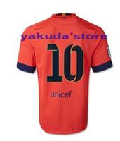 Tailandia Calidad # 10 MESSI personalizada Naranja jerseys del fútbol del fútbol Jersey, camisa del fútbol del fútbol barato, personalizado fútbol Tops