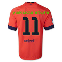 Thailand Quality #11 NEYMAR JR Orange Jerseys Soccer Footbal...