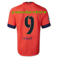 Wholesale Soccer Jerseys #9 SUAREZ Orange Jerseys Soccer Foo...
