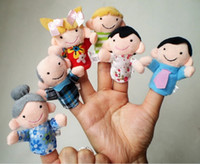 Cheap Wholesale - 2014 New 30pcs(6pcs set) Finger Plush Puppet Happy Family Story Telling Dolls Support Children Baby Educational Toys