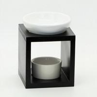 Wholesale Classic Ceramic Wood Aromatherapy Oil Burner Home Fragrance Burner Deodorant Incense Container Ceramic Craft SK119