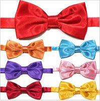 Wholesale Hot South Korean silk Bow Tie Solid Color Tie Bow Tie Adult Bow Tie High Grad Male Female Tie Pure Handmade CM A