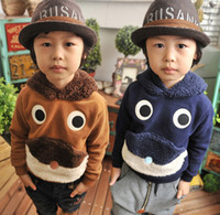 mouse animal - Children s Outwear Clothing Lovely Cute Animal Eyes Mouse Long Sleeve With Hat Fleece Hooded Boys Overcoats Kids Chids Hoody Coat J1197