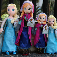 Wholesale 1PC Retail Frozen dolls cm inch elsa anna toy doll action figures plush toy frozen dolls Christmas Gift Cheapest
