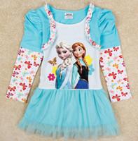 Autumn Children Girls Tutu Princess Dresses Long Sleeve Flor...