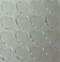 Wholesale 1 quot inch heart epoxy stickers clear epoxy dots resins epoxy dome charms sticker