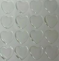 art pottery - 1 quot inch heart epoxy stickers clear epoxy dots resins epoxy dome charms sticker