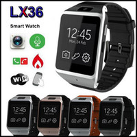 Wholesale LX36 Gear Smart Watch Smartphone Partner GB Bluetooth MP Camera Touchscreen Wristwatch For Galaxy S5 S4 Note iphone s