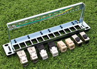 Wholesale High Quality ports blank patch panel for cat e cat keystone modules quot Inch Rack Mount with Cable Management Support Bar