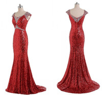 2014 Unique Mermaid Trumpet Prom Dresses Cap Sleeve Floor Le...