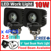 Wholesale 4PCS quot W CREE LED Driving Work Light Off Road SUV ATV WD x4 Spot Flood Beam lm V JEEP Motorcycle UTE Headlamp NEW PMMA IP67