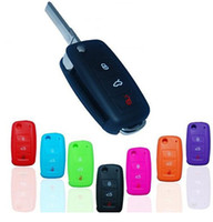 Wholesale Mixed color Silicone gel car Key Cover Keyless Entry Remote Fob FIT VW Volkswagen JETTA GTI MK6 Golf R Bora Soft and Durable