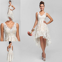 2014 Beautiful Sexy A- Line Prom Dresses V- Neck Hi- Lo Sleevel...