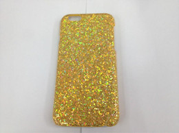 Wholesale Glitter Sparkle Bling Powder Leather Bling Veneer gluing For iphone S G Hard Plastic PC Case skin luxury cellphone Cover