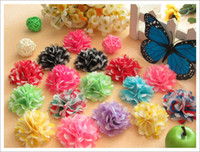 alligator heads - 30pcs color hair heads flower for girl headwear newbron baby hair accessory for alligator clip hair bows