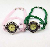 Precio de Gifts-10pcs Moda infinidad de Cristal Cuentas de Cristal de reloj de Pulsera Vintage Tramo de Relojes Con Flor de Encanto Para las Mujeres del Regalo de Navidad