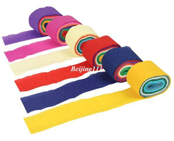 Coloured Rolling Papers Coloured Crepe Paper Rolls