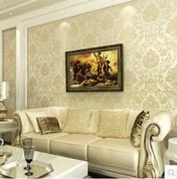 Wholesale Hot Sale Modern European Damascus Pattern Non woven Wallpaper Living Room TV Background Wall Paper Bedroom Papel De Parede Roll