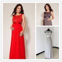 Maternity Dresses Clothes 2015 Illusion Neck Sleeveless Chif...