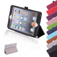 apple ipad purple - New Arrival New ipad mini PU Leather Protective Case Smart Stand Cover for Apple iPad Mini1 ipad mini2 Colours