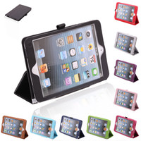 apple ipad - Ship from USA New ipad mini PU Leather Protective Case Smart Stand Cover for Apple iPad Mini1 ipad mini2 Colours