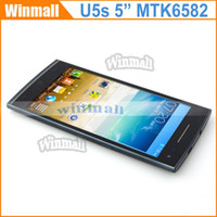 Cheap Ulefone U5S Android 4.4 3G Cell Phone 5.0 inch WVGA Screen MTK6582 Quad Core 1.3GHz 1GB RAM 4GB ROM GPS Smartphone