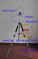 Wholesale 10pc COSMETOLOGY Training Doll Head Mannequin Manikin Canvas Block Head Stand TRIPOD Aluminium Alloy Round Leg Strong Stable