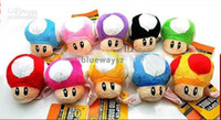 Wholesale Super Mario Bros Mushroom With Key Chain Plush Doll quot Toy colors more colors