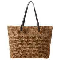 Wholesale Women s Classic Straw Summer Beach Sea Shoulder Bag Handbag Tote