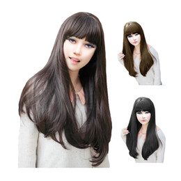 Wholesale S5Q Long Curly Wavy Party Wigs Fashion Women Girl Sexy Full Hair Wigs Cap Gift AAADND