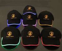 Wholesale New Design LED Light Hat Party Hats Boys and Grils Cap Baseball Caps Fashion Luminous Different Colors Adjustment SIZE