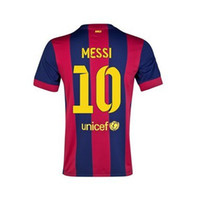 Cheap 2014-15 Barcelona Home Soccer Jerseys #10 MESSI Mens Soccer Kits Thai Quality Football Shirts Mens Sports Jerseys Club Teams Jersey Hot Sale