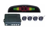 Wholesale LED parking sensor alarm by three step bibi sound Car Reversing Aid four sensors multiple color LED Parking sensor LED rader