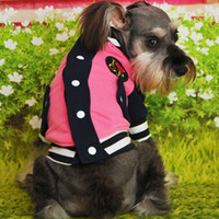 Wholesale Pet winter Clothes Coat Dog Clothing Pet Baseball Sports Clothes Hot Sale Casual Unisex Cotton Dog Winter Apparel PT144